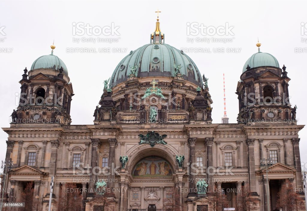 Berliner Dom - the largest Protestant church in Germany stock photo