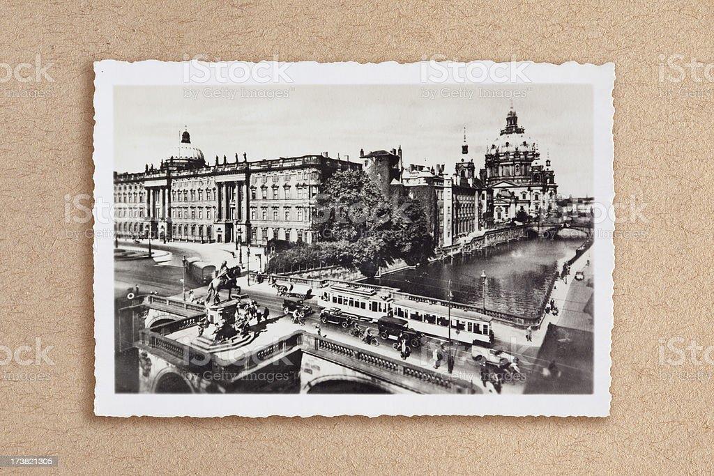 Berliner Schloss with Dom 1920 stock photo