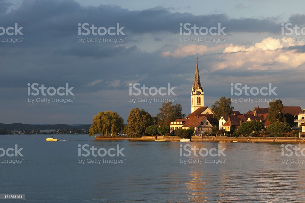 Berlingen in sunset stock photo