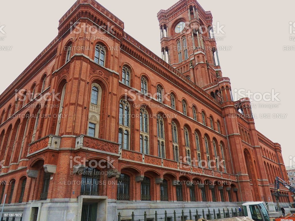 Berlino – Rotes Rathaus stock photo