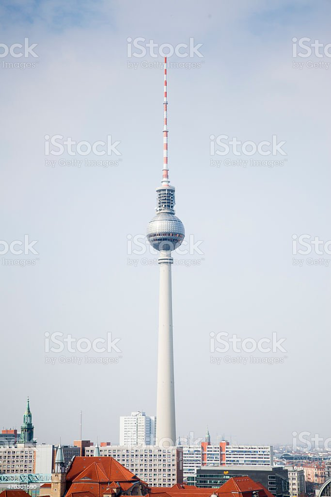 Berlin's Iconic TV Tower stock photo