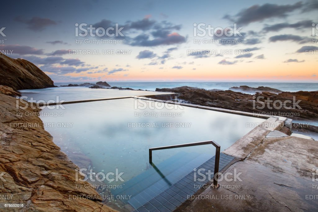 Bermagui Blue Pool stock photo