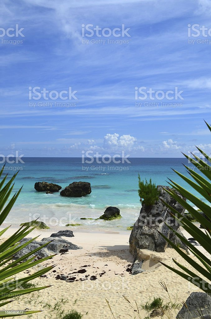 Bermuda Beach Scene stock photo