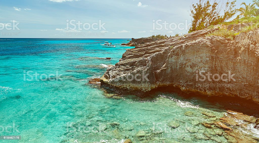 bermuda coast line stock photo