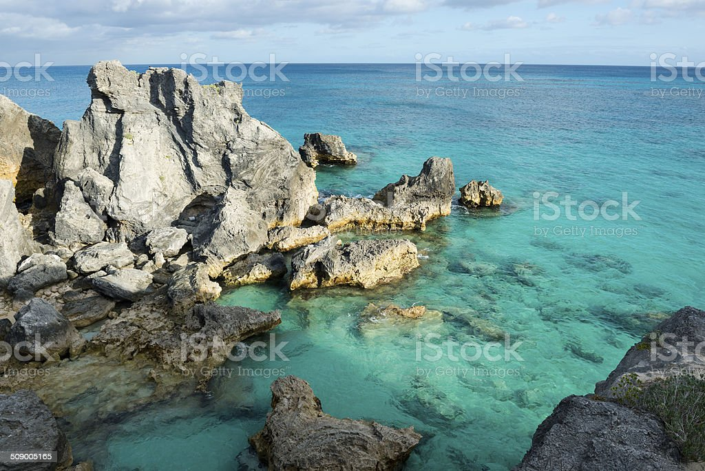 Bermuda coastline stock photo