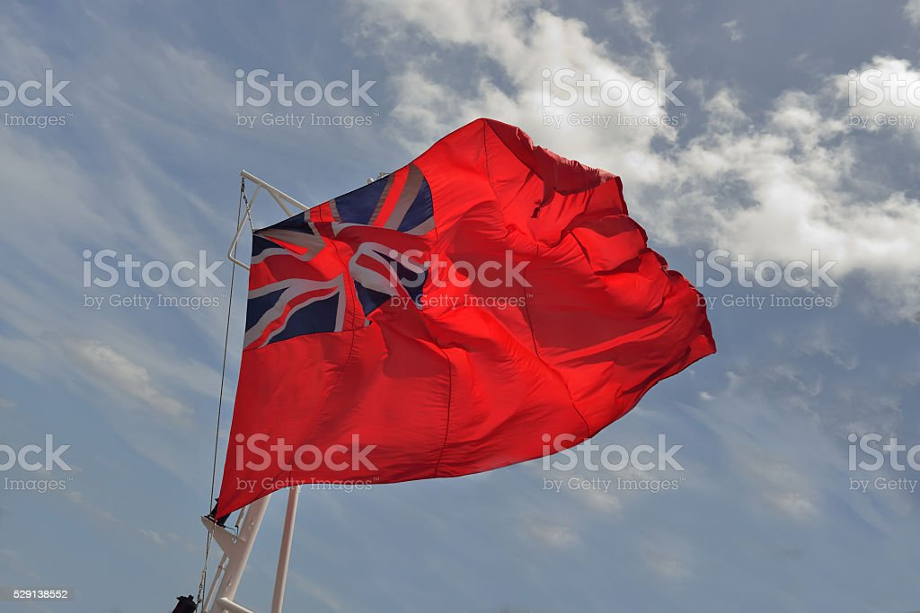Bermuda Flag Flying in the Wind stock photo