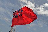 Bermuda Flag Flying in the Wind