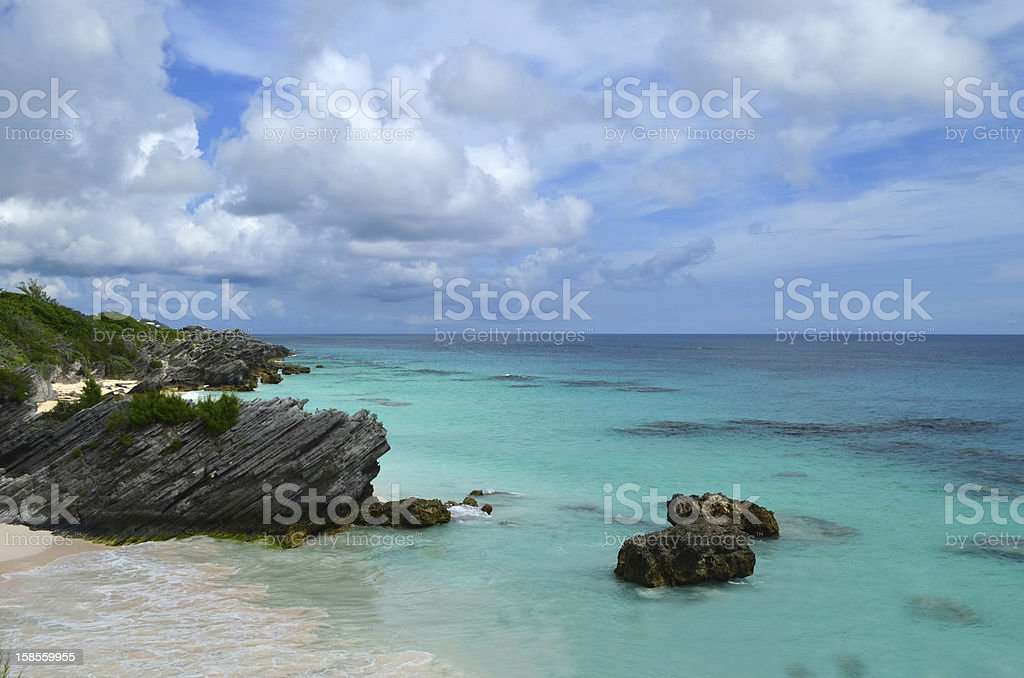 Bermuda Horsehoe Bay Beach stock photo