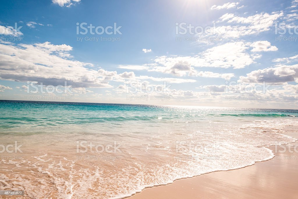 Bermuda Perfect Beach stock photo