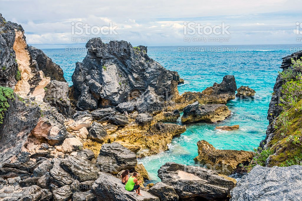 Bermuda Rock Formations stock photo