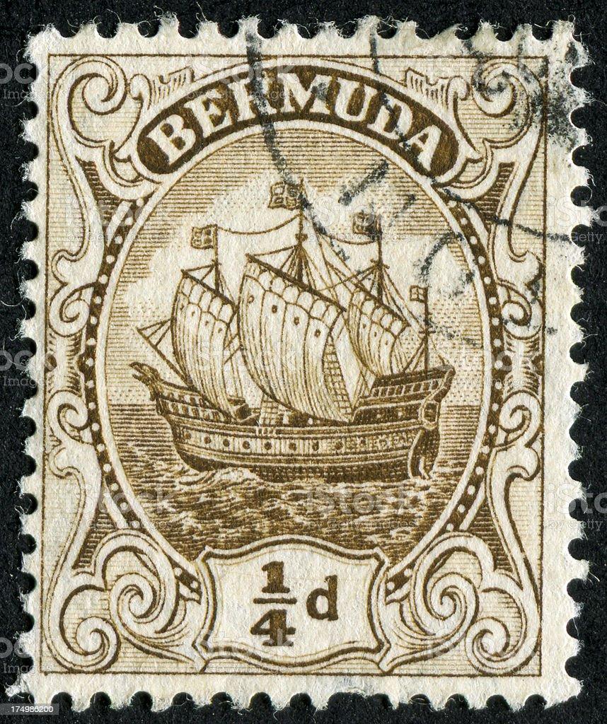 Bermuda Stamp stock photo