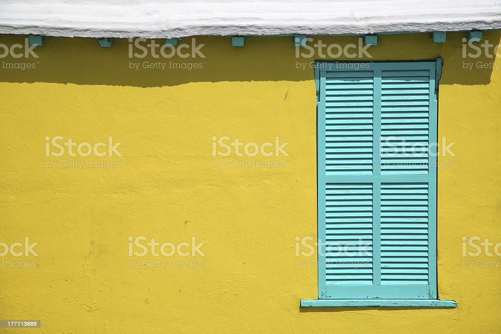 Bermuda Window Shutters stock photo