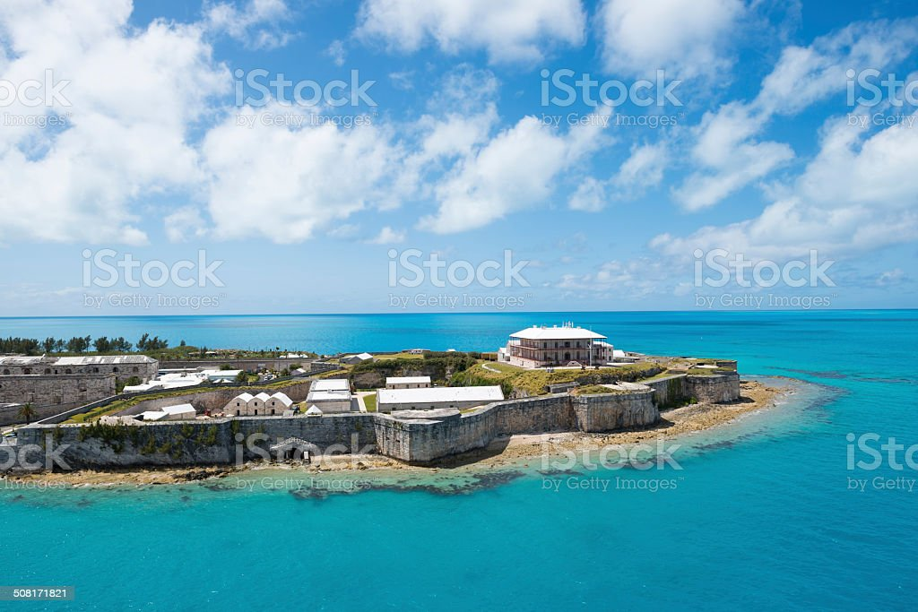 Bermuda's Royal Naval Dockyard stock photo