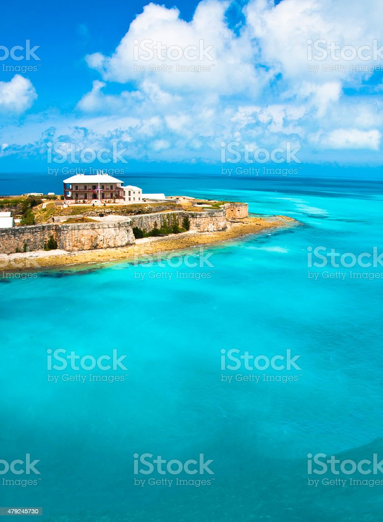 Bermuda's water stock photo