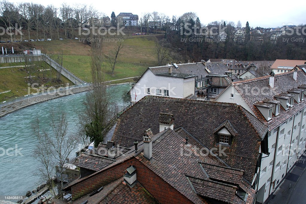 Bern and Aare River, Switzerland royalty-free stock photo