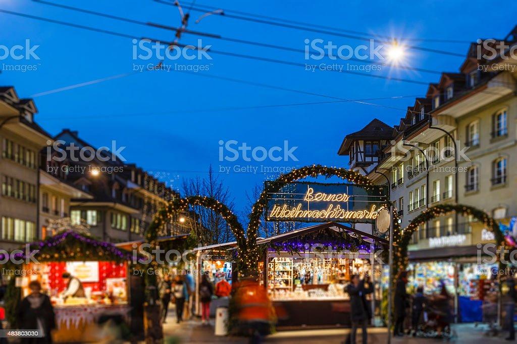 Bern at Christmas, Switzerland stock photo