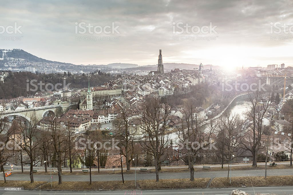 Bern at Sunset, HDR royalty-free stock photo