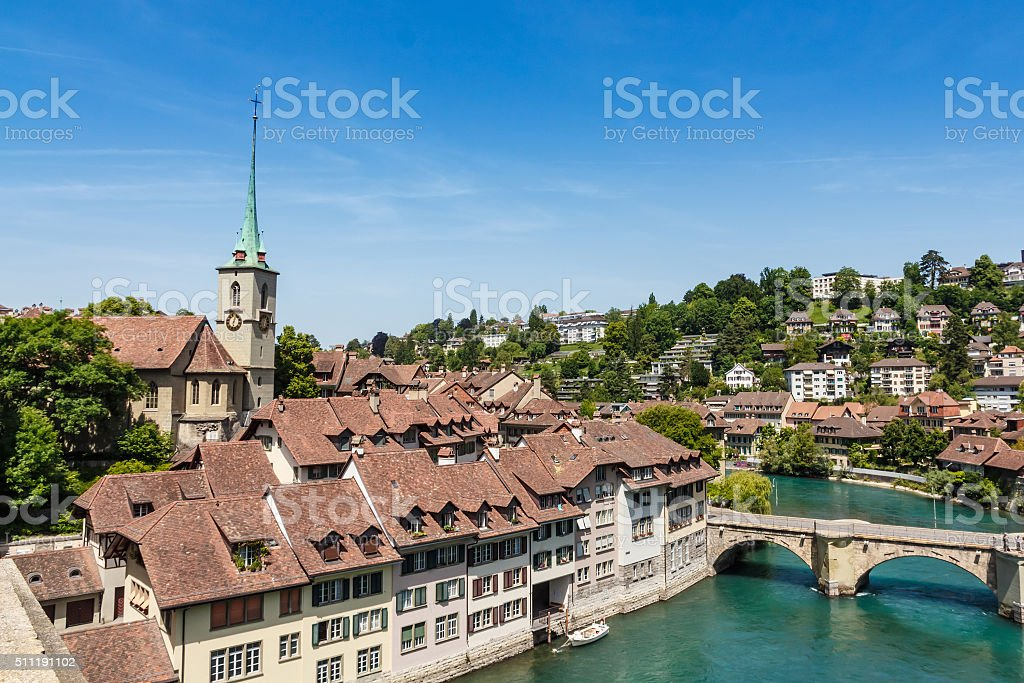 Bern, capital city of Switzerland stock photo