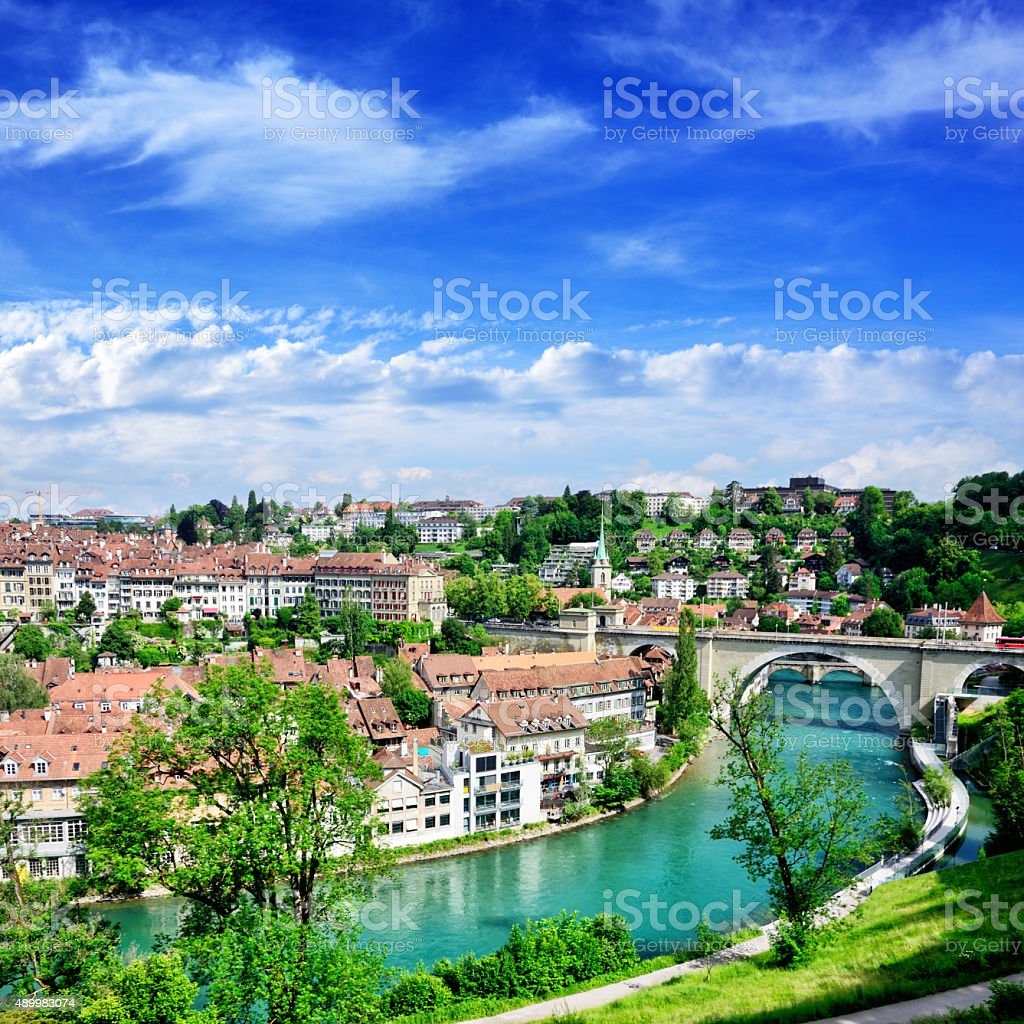Bern cityscape stock photo