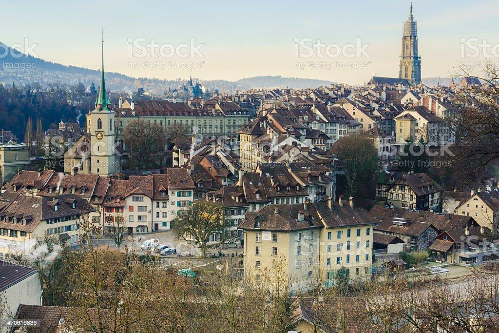 Bern downtown stock photo