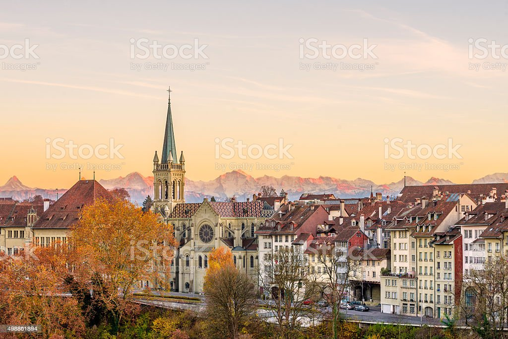 Bern in Autumn stock photo
