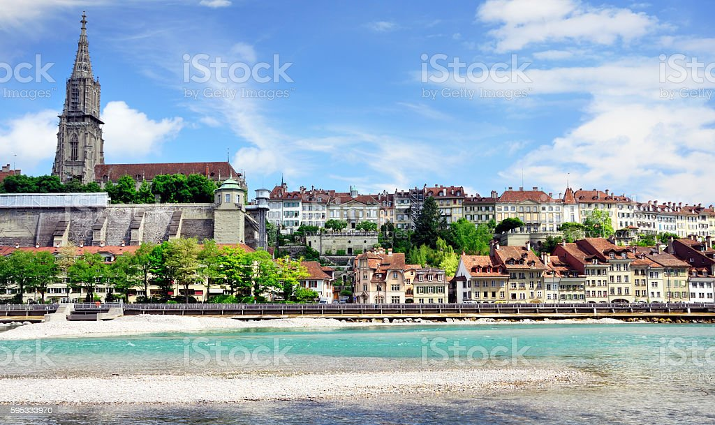 Bern Minster, Switzerland stock photo