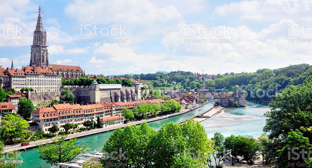 Bern Minster, Switzerland stock photo