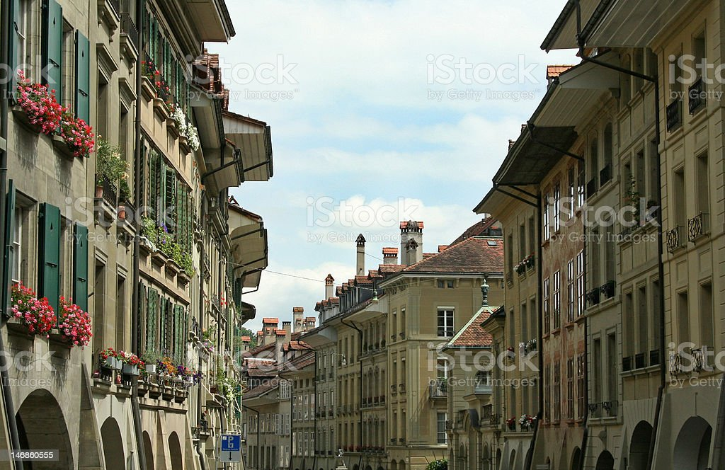 Bern Old Town Street royalty-free stock photo
