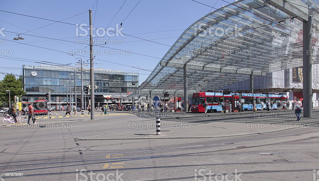 Bern Railway Station stock photo