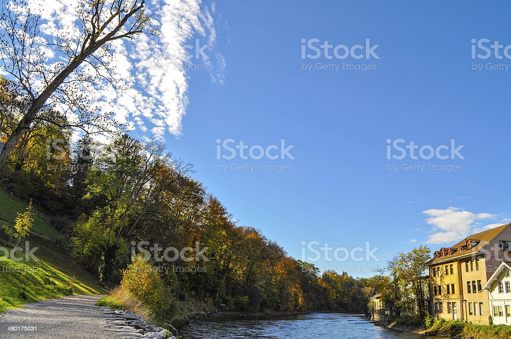 Bern River, Switzerland royalty-free stock photo