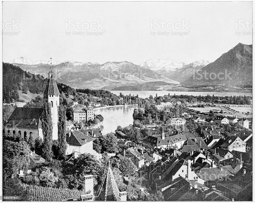Bern, Switzerland in 1880s stock photo