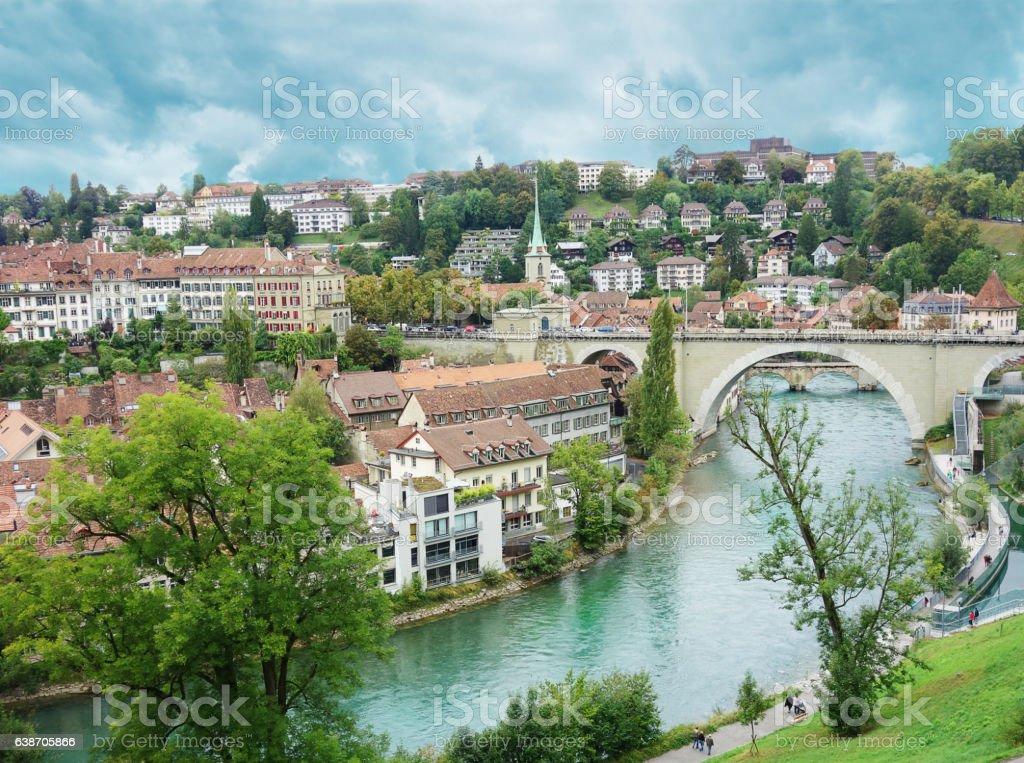 Bern Switzerland view stock photo