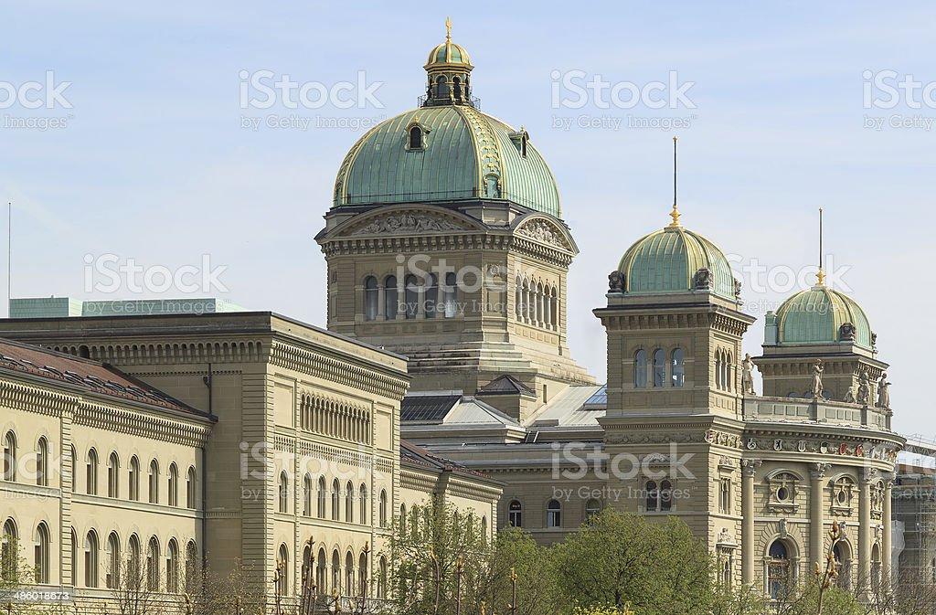 Bern, the Federal Palace of Switzerland stock photo
