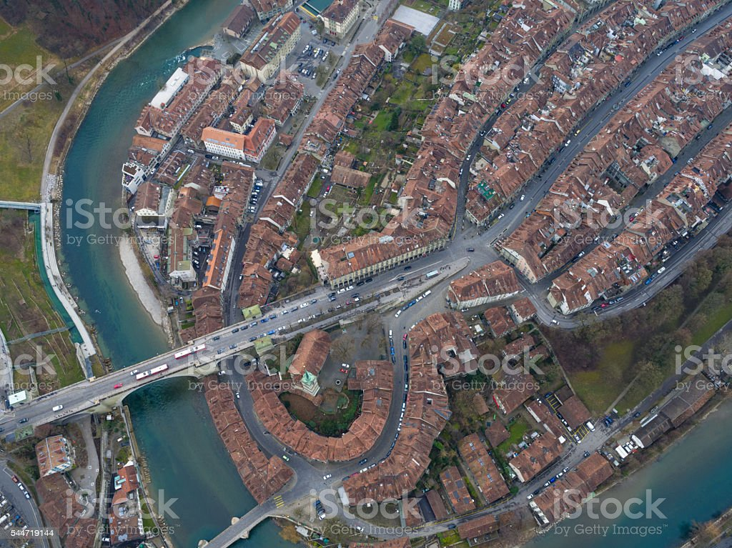 Bern view from air stock photo