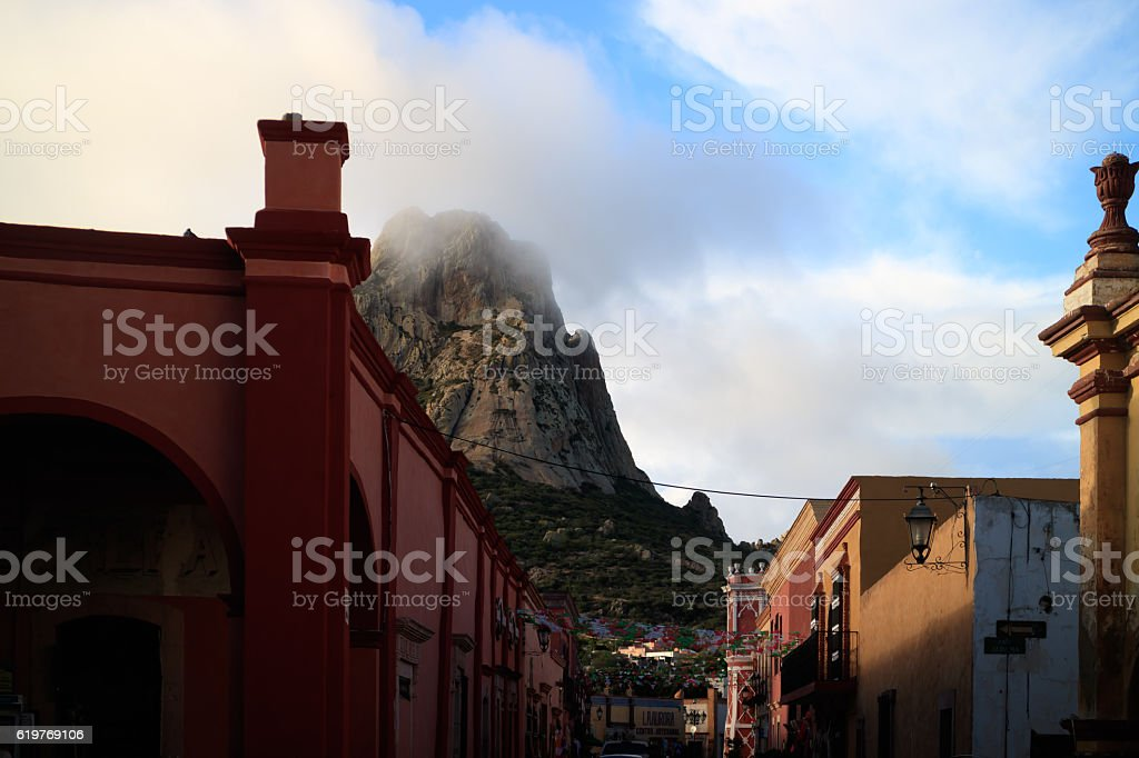 Bernal, Queretaro, Mexico. stock photo