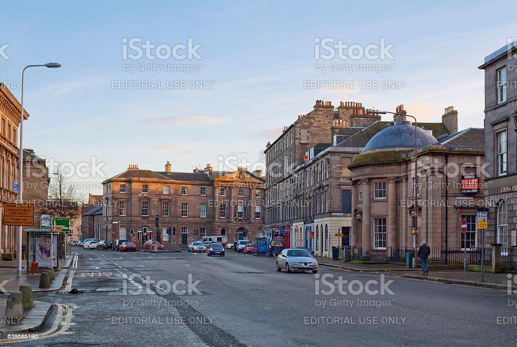 Bernard Street in Leith area, Edinburgh, Scotland stock photo