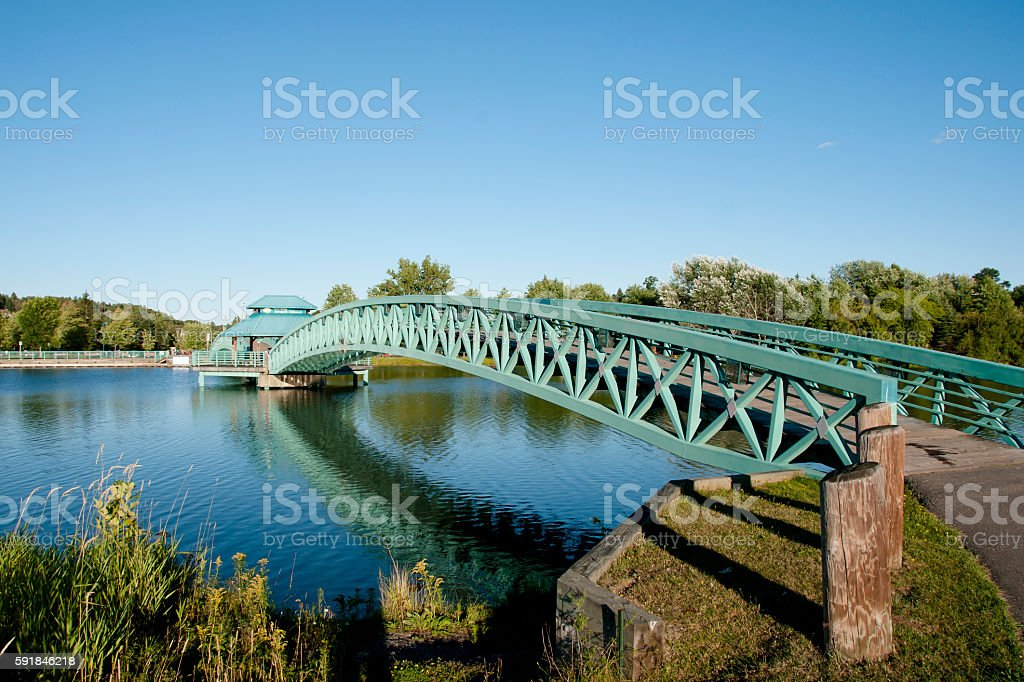 Bernard Valcourt Bridge - Edmundston - New Brunswick stock photo