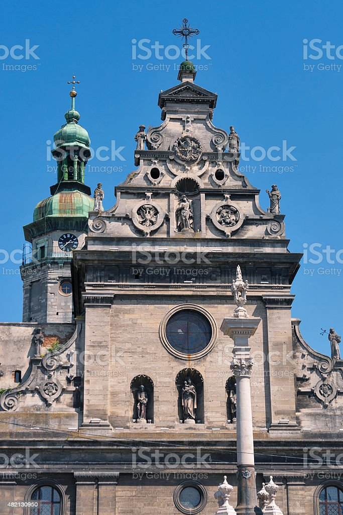 Bernardine Church and Monastery in Lviv, Ukraine stock photo