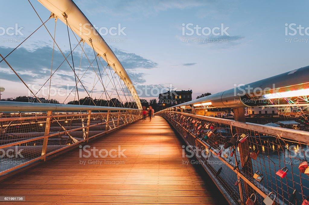 Bernatka bridge in Krakow stock photo
