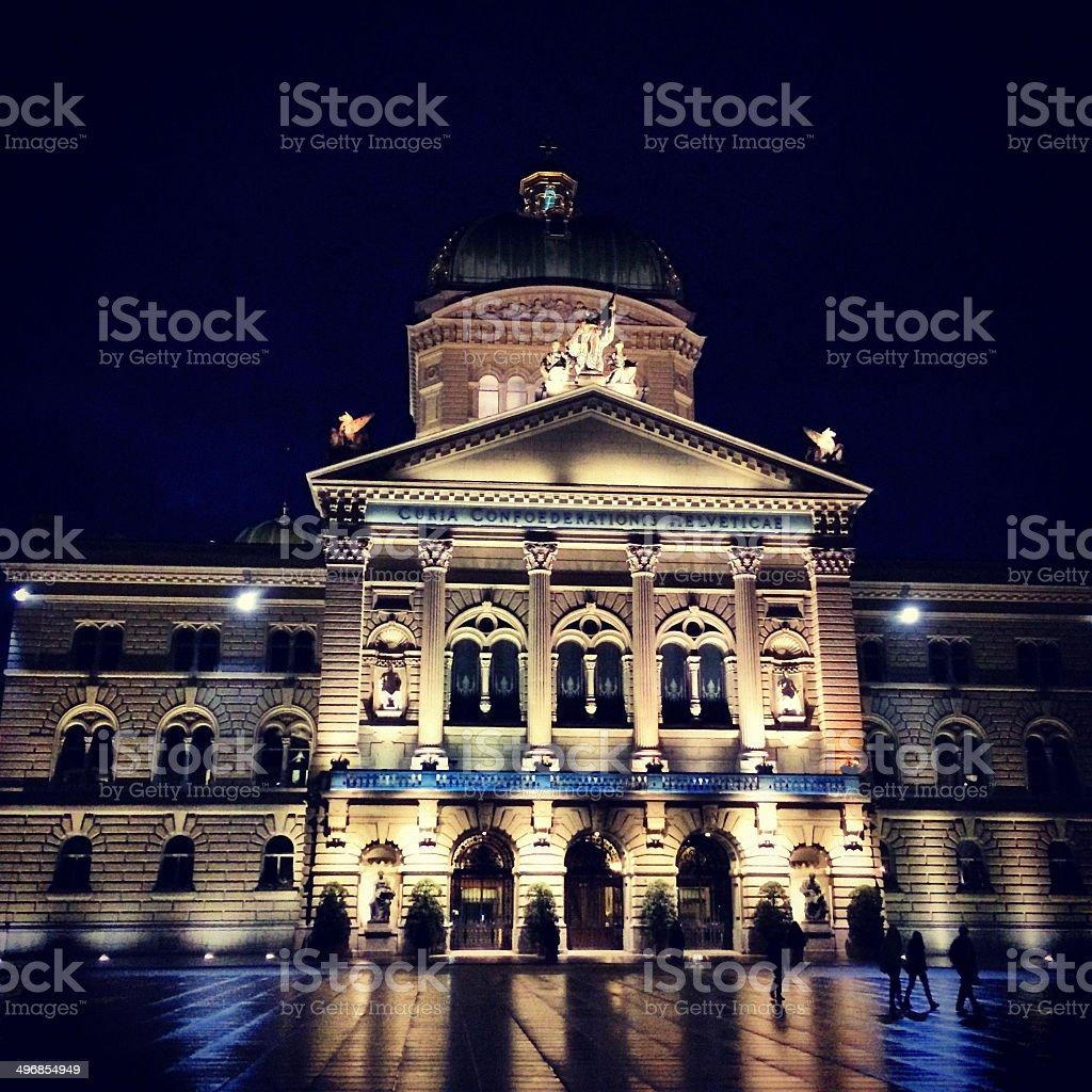 Berne Parliament Building stock photo