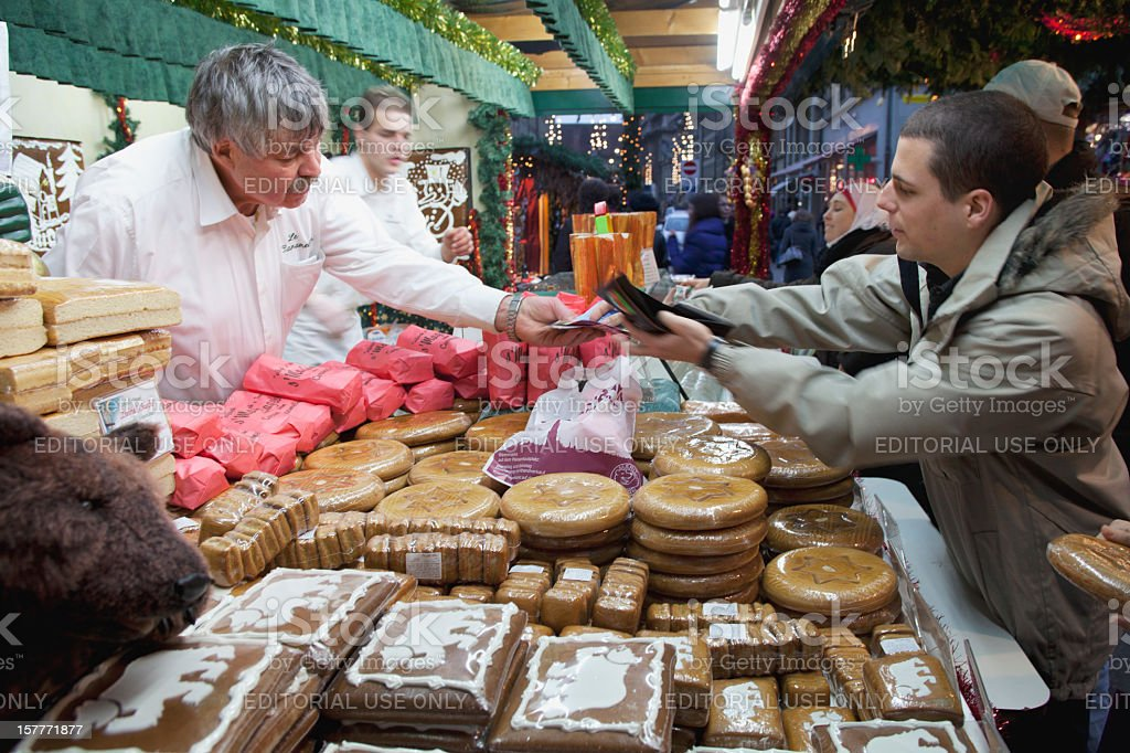 Berne, Switzerland, December 21, 2010, Christmas Market royalty-free stock photo