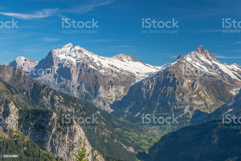 Bernese Alps - View from Schynige Platte stock photo
