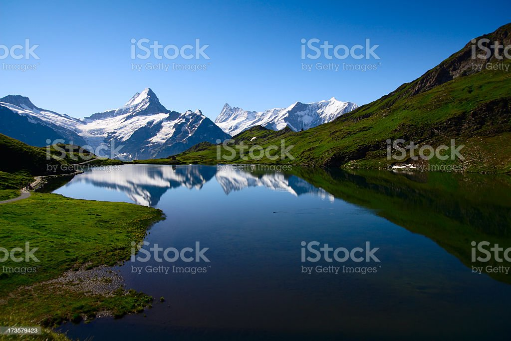 Bernese Oberland in beautiful Swiss stock photo