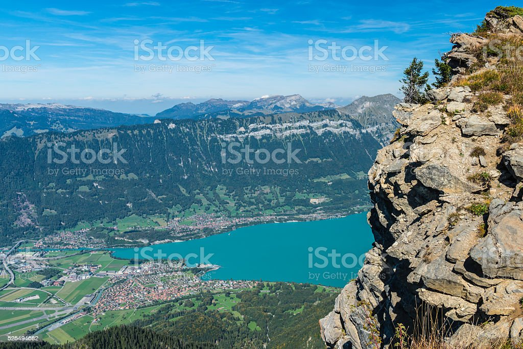 Bernese Oberland: Lake Brienz stock photo