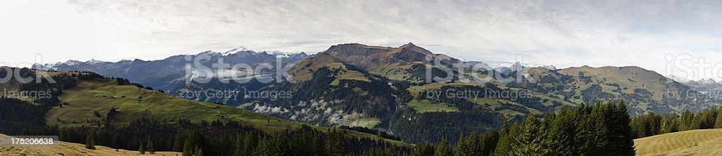 Bernese Oberland Panorama near Lenk with Wildstrubel royalty-free stock photo