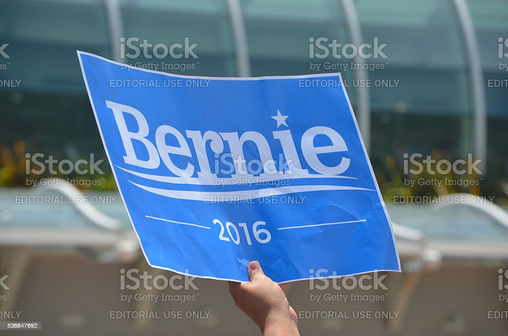 Bernie 2016 stock photo