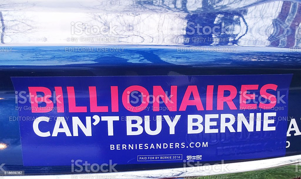 Bernie Sanders Bumper Sticker stock photo
