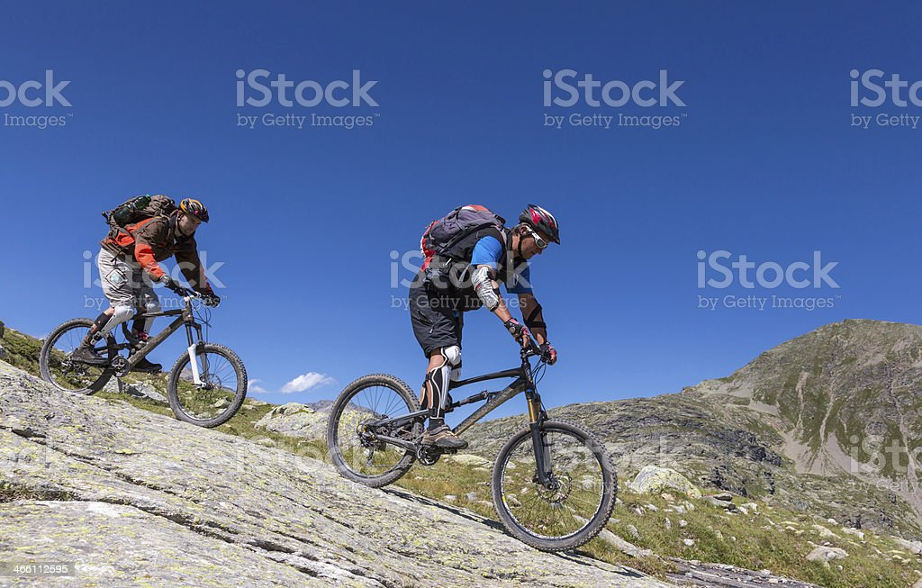 Bernina Downhill Challenge, Switzerland royalty-free stock photo