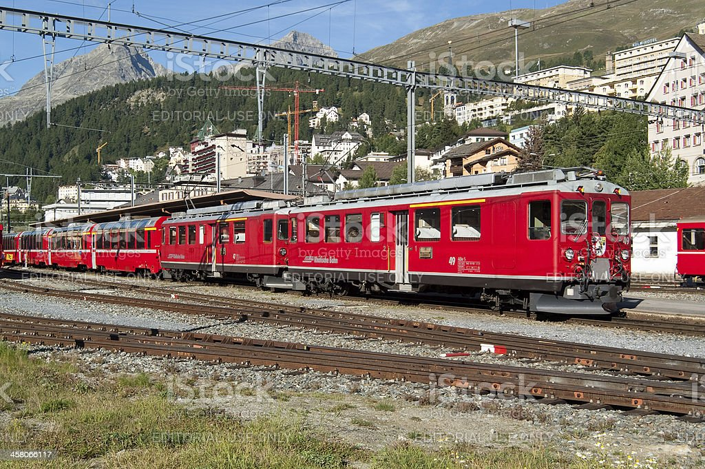 Bernina Express - ready for the departure royalty-free stock photo