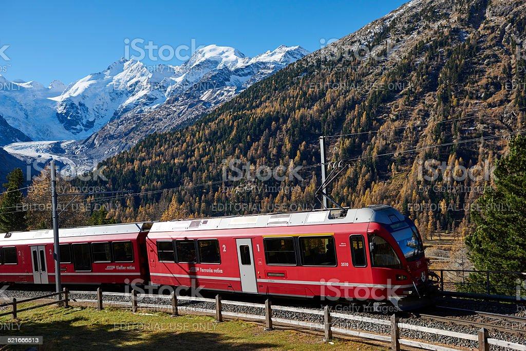 Bernina Express Train stock photo